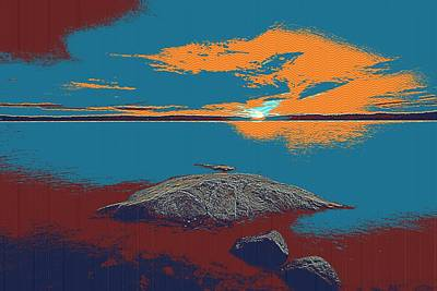 Tranquil Painting - A Pacific Horizon by Celestial Images