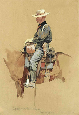 A Packer. Fort Grant. Arizona Art Print