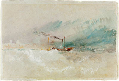 Painting - A Packet Boat Off Dover by Joseph Mallord William Turner