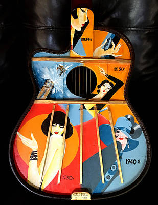 Painting - A Painted Guitar by Victor Minca
