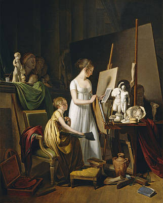 Painting - A Painter's Studio by Louis-Leopold Boilly