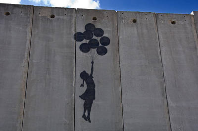 Mural Photograph - A Painting On The Israeli Separartion by Keenpress