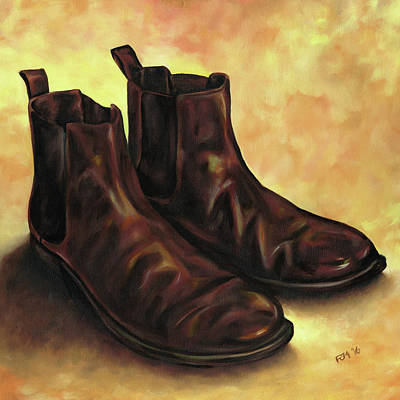 Painting - A Pair Of Chelsea Boots by Richard Mountford