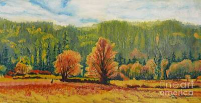 Painting - A Pair Of Golden Trees  by Terri Thompson