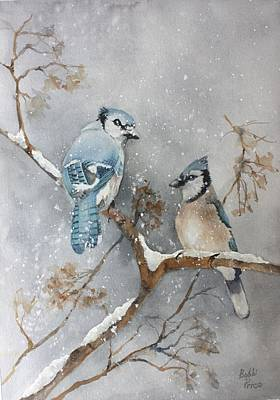 Bluejay Mixed Media - A Pair Of Jays by Bobbi Price