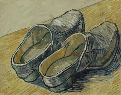Painting - A Pair Of Leather Clogs Saint Remy De Provence  Autumn 1889 Vincent Van Gogh 1853  1890 by Artistic Panda