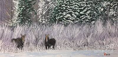 A Pair Of Moose Original by Lorie Smith