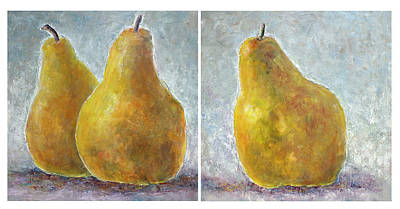 Painting - A Pair Of Pears And A Pear-diptych by Jill Musser