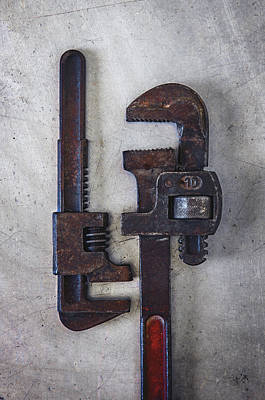 A Pair Of Rusty Wrenches Art Print by Carlos Caetano
