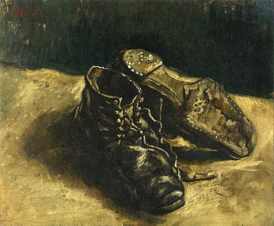 Disorder Painting - A Pair Of Shoes, 1887 01 by Vincent Van Gogh