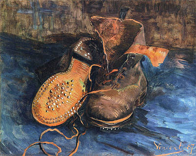 Working Conditions Painting - A Pair Of Shoes, 1887 02 by Vincent Van Gogh