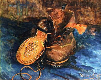 A Pair Of Shoes Art Print by Pg Reproductions
