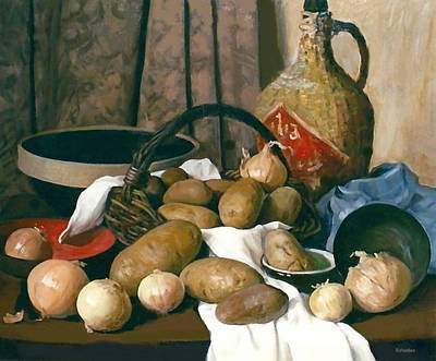 Painting - A Pairing Of Potatoes And Onions by Robert Holden