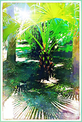 Digital Art - A Palm With Pizazz by Mindy Newman