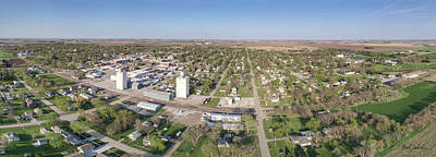 Photograph - A Panorama Of David City, Nebraska by Mark Dahmke