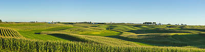 Medicago Photograph - A Panoramic View Of Alfalfa Fields by Scott Sinklier