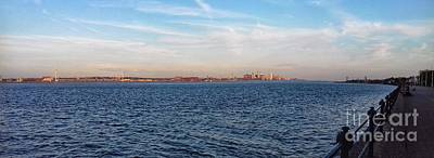 Photograph - A Panoramic View Of Liverpool's Skyline At New Brighton by Joan-Violet Stretch
