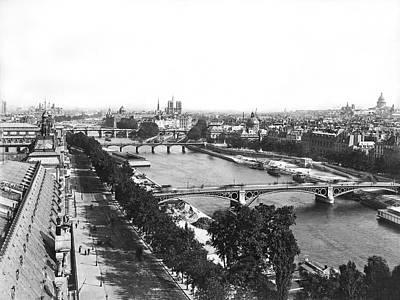 A Panoramic View Of Paris Art Print