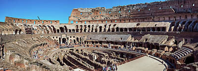 Photograph - A Panoramic View Of The Roman Coliseum by Eduardo Jose Accorinti