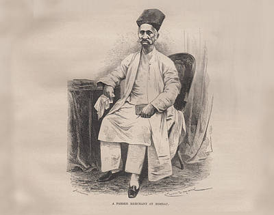 A Parsee Merchant At Bombay Original by Angela Lautin