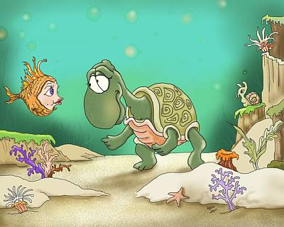Goldfish Digital Art - A Passer By by Hank Nunes