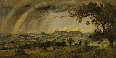 Jasper Francis Cropsey Painting - A Passing Shower Over Mts Adam And Eve by Jasper Francis Cropsey