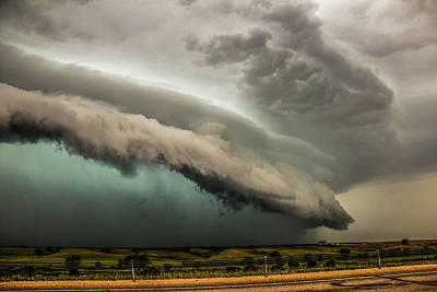 Photograph - A Passion For Shelf Clouds 018 by NebraskaSC