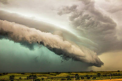 Photograph - A Passion For Shelf Clouds 019 by NebraskaSC