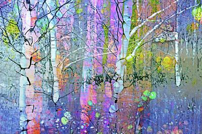Nature Abstract Digital Art - A Pastel Party by Tara Turner