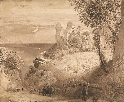 Painting - A Pastoral Scene by Samuel Palmer