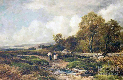 Bates Painting - A Path In Wharfedale by MotionAge Designs
