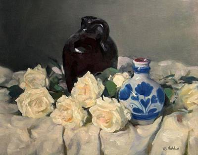 Painting - A Bed Of Roses by Robert Holden