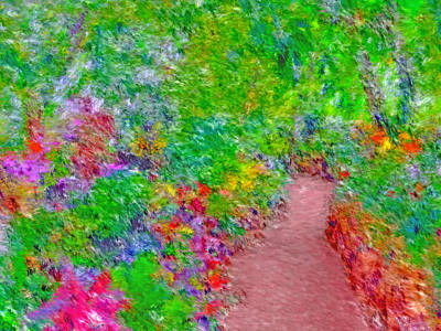 Digital Art - A Path Through Eden by Digital Photographic Arts