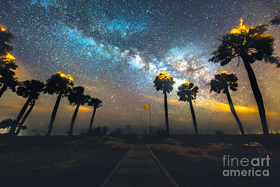 Photograph - A Path To The Milky Way by Robert Loe