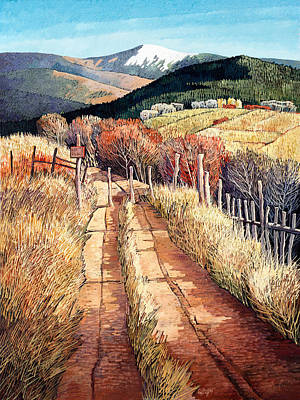 Pueblo Painting - A Path Unknown by Donna Clair