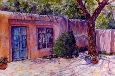 A Patio In Santa Fe Art Print