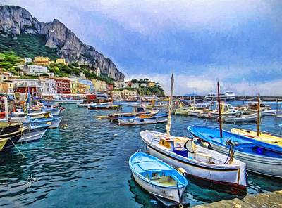 Photograph - A Peace Of Capri by TK Goforth