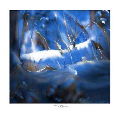 Early Spring Painting - A Peace Of Winter by Bob Salo