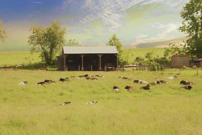 Amish Farms Digital Art - A Peaceful Amish Farm Scene. by Rusty Smith