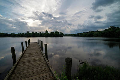 Photograph - A Peaceful Evening At The Lake by Lori Coleman