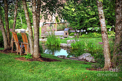 Photograph - A Peaceful Garden   by Kerri Farley