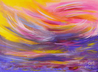A Peaceful Heart - Abstract Painting Original by Robyn King
