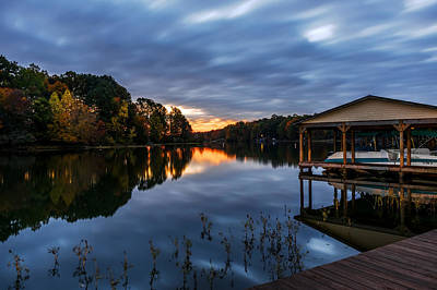 Photograph - A Peaceful Morning At The Lake by Lori Coleman