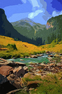 Painting - A Peaceful Mountain View by Andrea Mazzocchetti