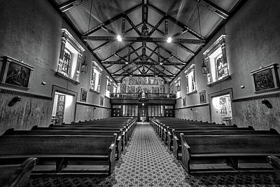 First Friday Photograph - A Peaceful Place In Monochrome by Rick Bravo
