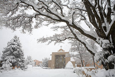 Photograph - A Peaceful Winter Scene by Ralph Lee Hopkins