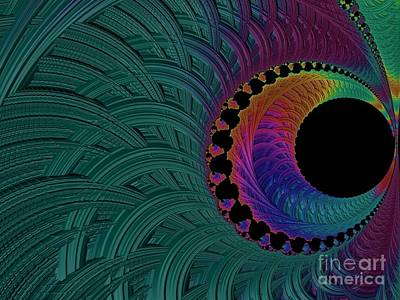 Digital Art - A Peacocks Eye Fractal Abstract by Rose Santuci-Sofranko