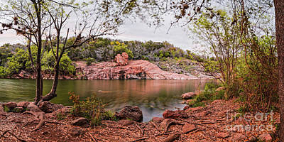 Photograph - A Peak Into The Lake Through The Silent Trees - Inks Lake State Park Texas Hill Country by Silvio Ligutti