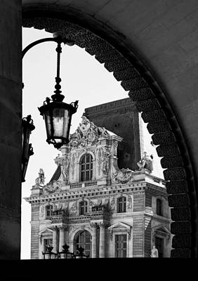 Photograph - A Peak To The Louvre by Denise Dube