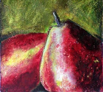 A Pear Art Print by Karla Phlypo-Price